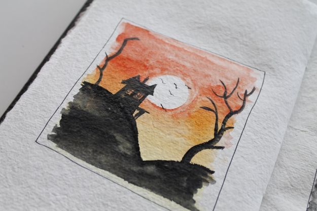 Halloween water colours